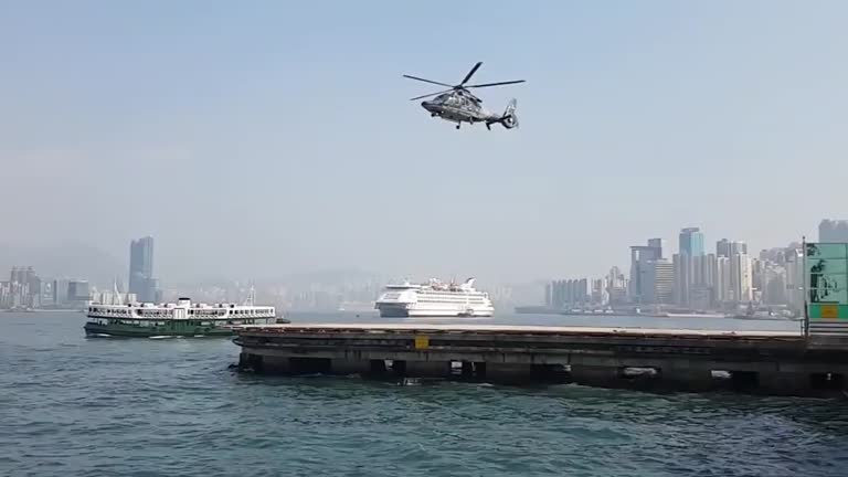 Camera shutter speed matches helicopters rotor