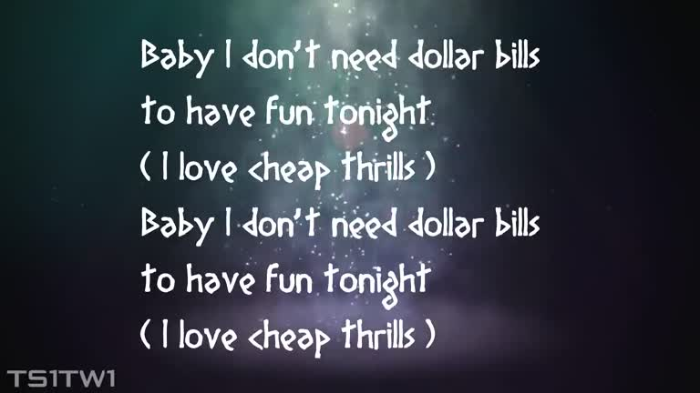 Sia Cheap Thrills Nice song