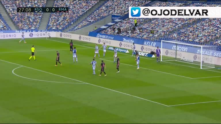 Real Sociedad - Real Madrid penalty de Gorosabel a Mendy (20/09/2020)